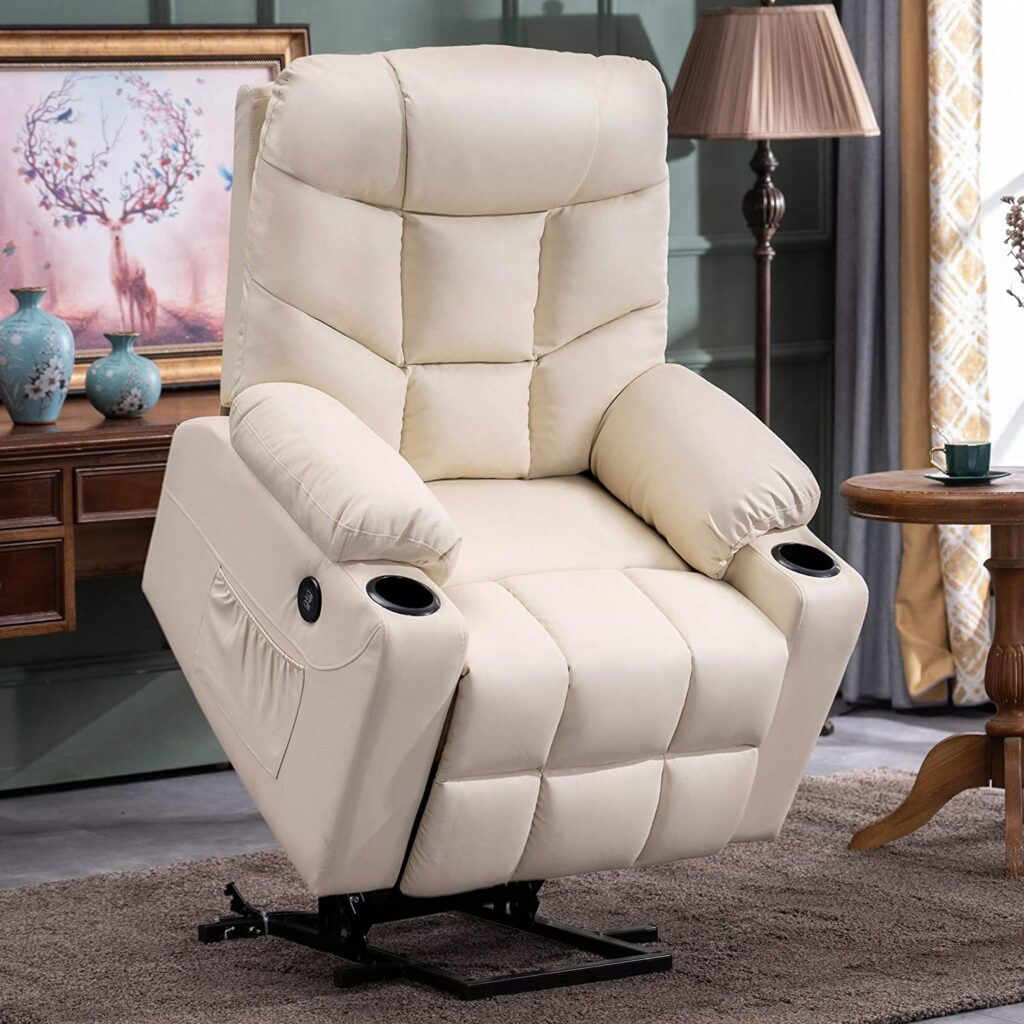 MCombo Electric power lift faux leather recliner for seniors