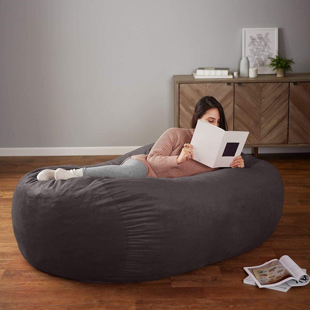 Amazon Basics Memory Foam Filled Bean Bag Chair