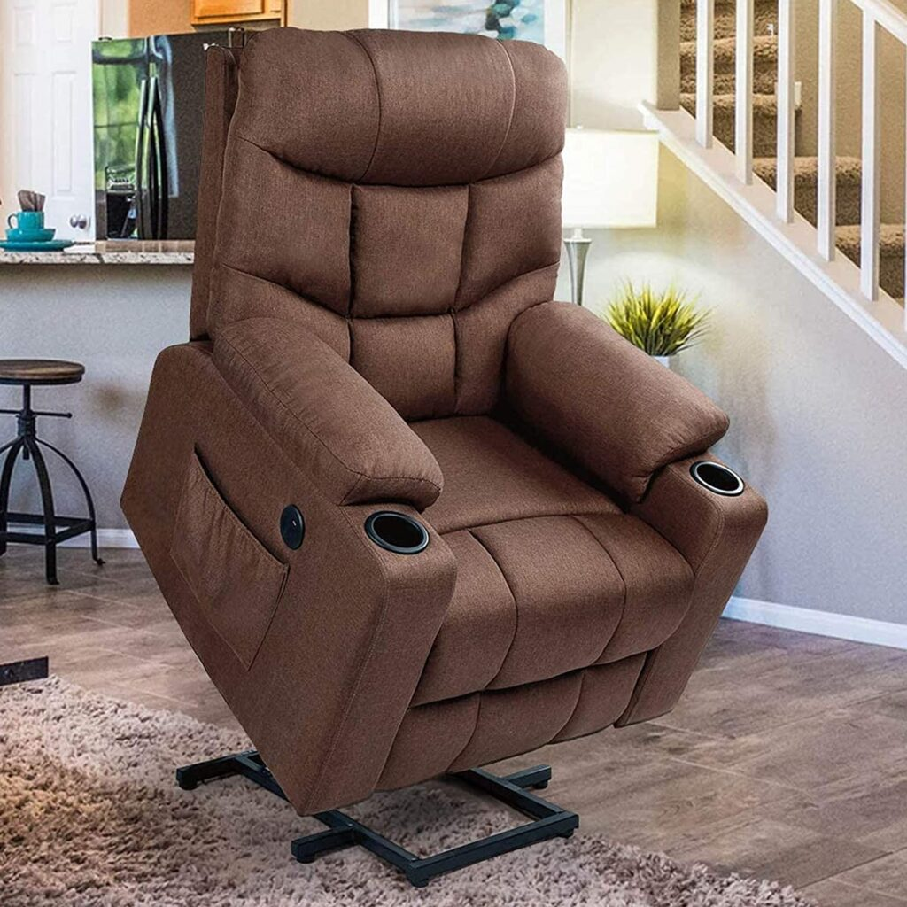 Esright Power Lift Recliner Chair for Elderly -  Best Power Lift Recliners with Heat and Massage