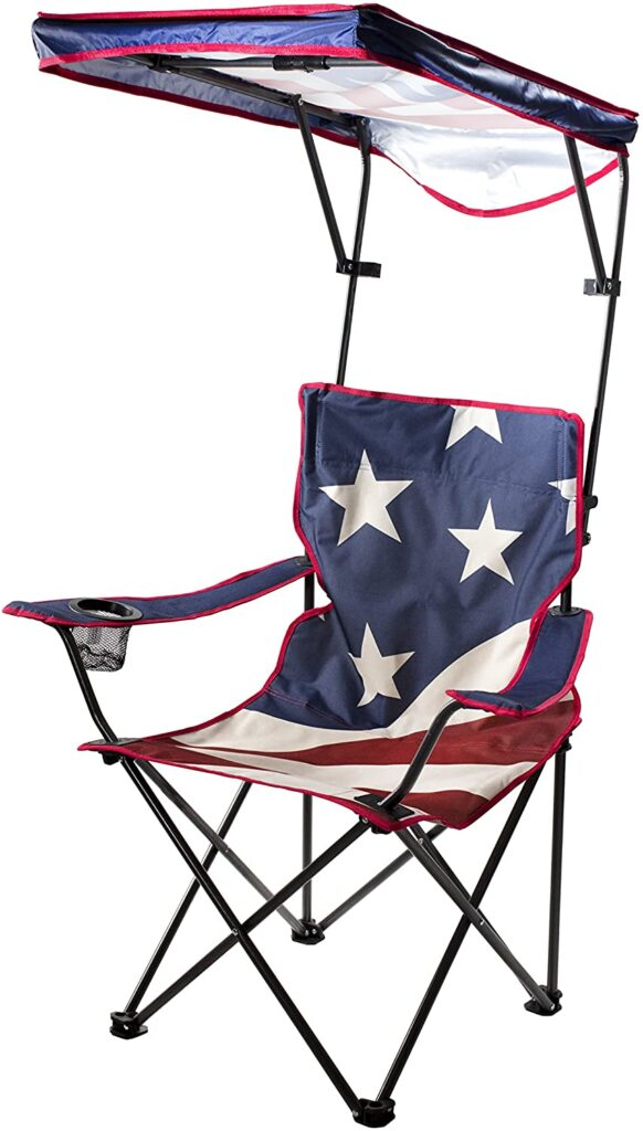 Quik Shade Adjustable Canopy Folding Chair