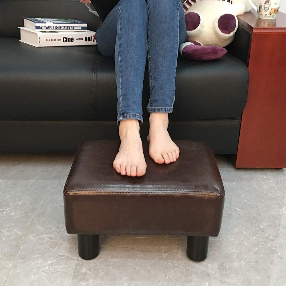 Scriptract 6 Inches PU Leather Ottoman Footrest