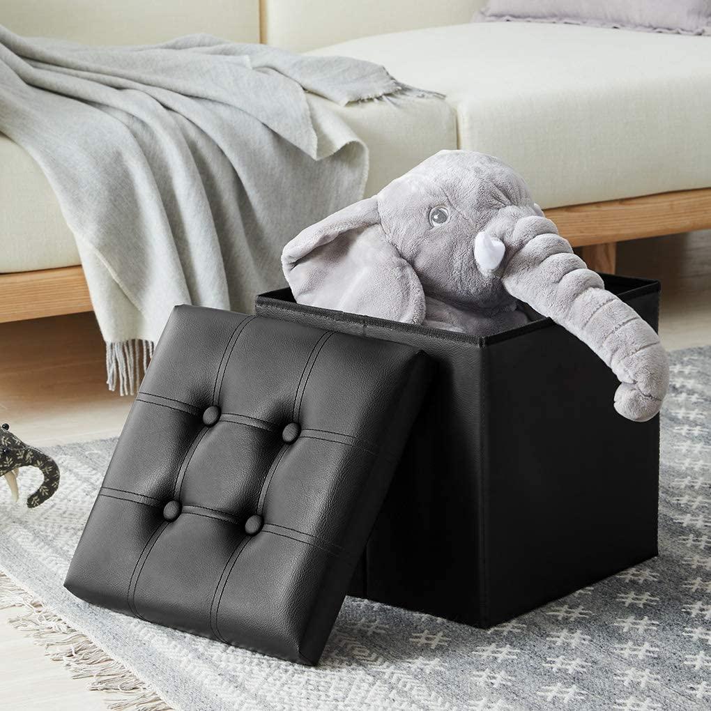 Youdenova 15 Inches Folding Storage Ottoman