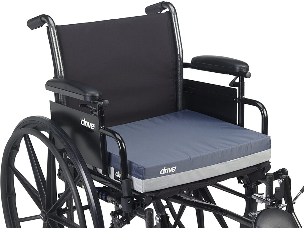 """Drive Medical Gel """"E"""" best seat Cushions for wheelchairs"""