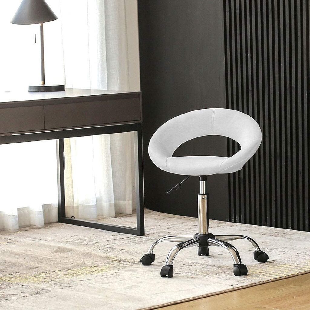 Duhome Adjustable Low-back Task Chair with Wheels lash artists chair
