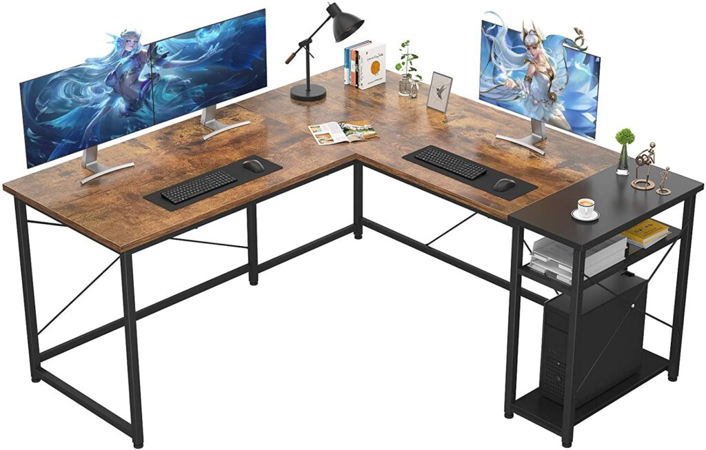 Ecoprsio L-Shaped Computer Gaming video editing Desk