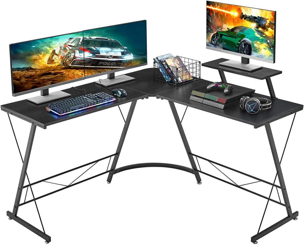 Mr. Ironstone L-Shaped Corner video editing desks